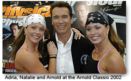 Fitness Twins - Adria and Natalie at the Arnold Classic