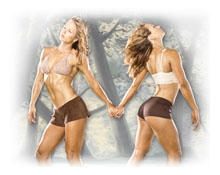 Fitness Twins - Adria and Natalie from Muscle and Fitness magazine